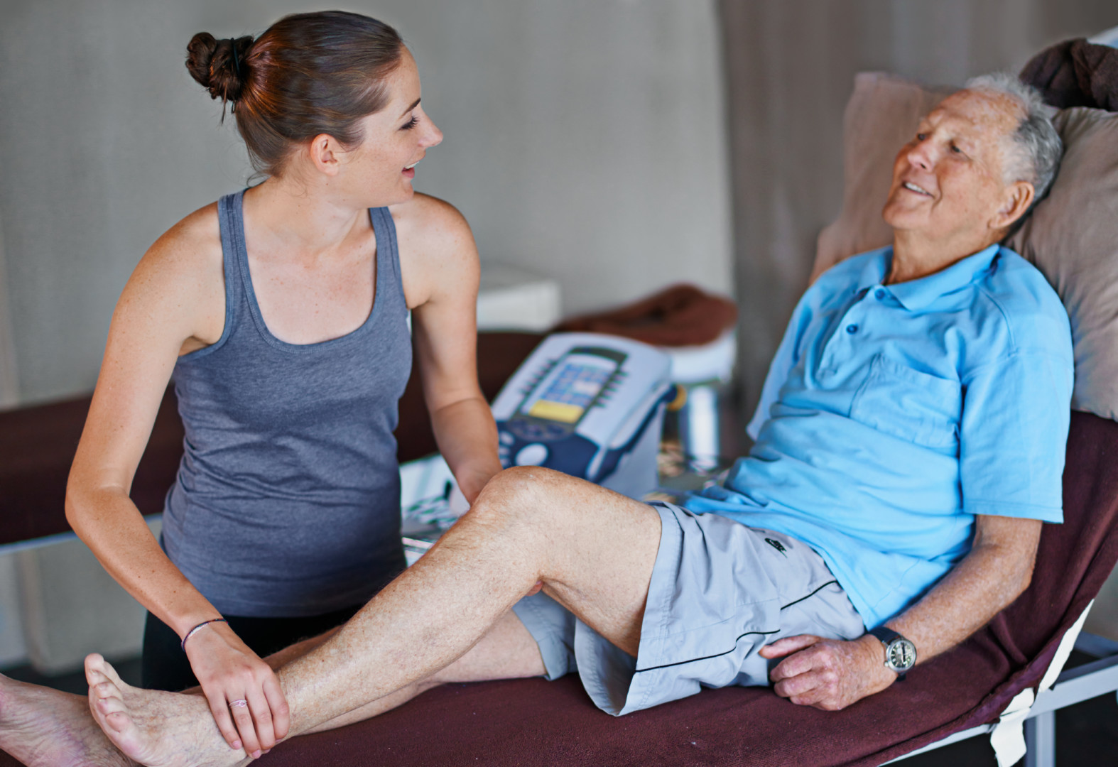 Shot of an elderly man having a physiotherapy session with a female therapist